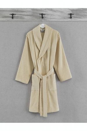 Банный халат Marie claire. Цвет: бежевый