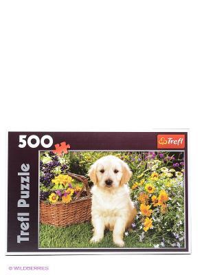 Пазл Лабрадор в саду Trefl. Цвет: бежевый