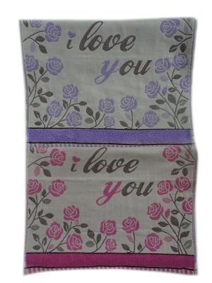 Полотенца банные A and C Collection. Цвет: розовый, фиолетовый
