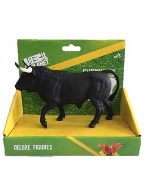 Фигурка Mojo (Animal Planet) в индивидуальной упаковке - Испанский бык (XL). Цвет: черный, белый