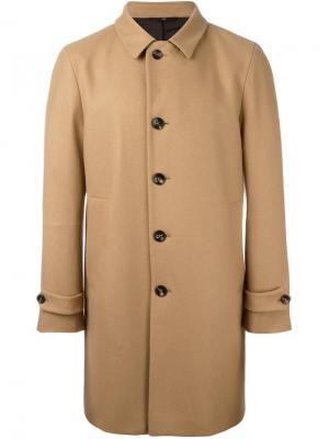 Пальто с заостренными лацканами Hevo. Цвет: телесный