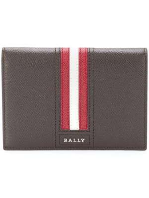 Визитница  с контрастной полосой Talknis Bally. Цвет: коричневый