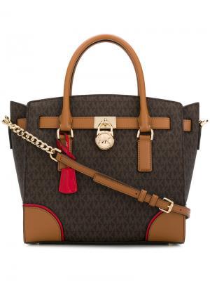 Большая сумка-тоут Hamilton Michael Kors. Цвет: коричневый
