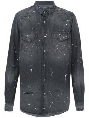 Джинсовая рубашка Amiri. Цвет: серый