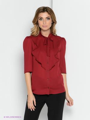 Блузка YUVITA. Цвет: бордовый