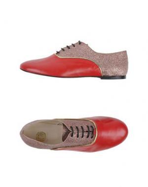 Обувь на шнурках LISA C BIJOUX. Цвет: красный