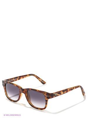 Солнцезащитные очки IUTER. Цвет: коричневый