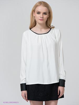 Блузка BSB. Цвет: белый, черный