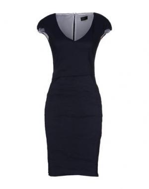 Платье до колена CRISTIANO BURANI. Цвет: темно-синий