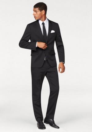 Костюм, 4 части: пиджак + брюки галстук платок Otto. Цвет: черный