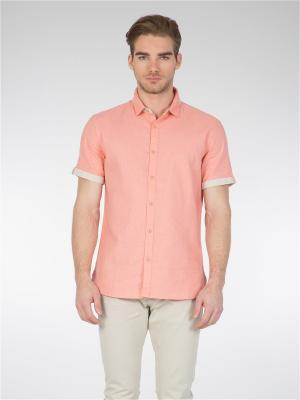 Рубашка Colin's. Цвет: коралловый