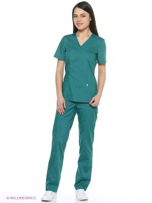 Блузка медицинская Med Fashion Lab. Цвет: темно-зеленый