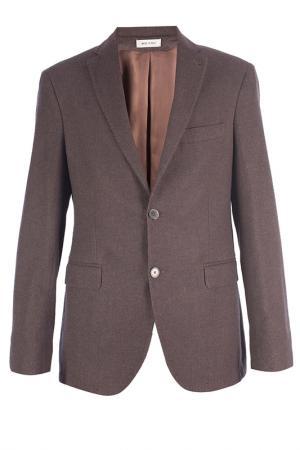 Однобортный пиджак Smalto. Цвет: коричневый