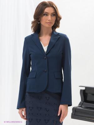 Жакет DRS Deerose. Цвет: синий
