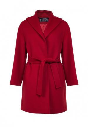 Пальто Heresis. Цвет: красный