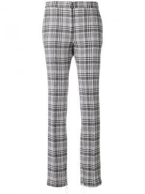 Клетчатые брюки с манжетами на молнии Off-White. Цвет: чёрный