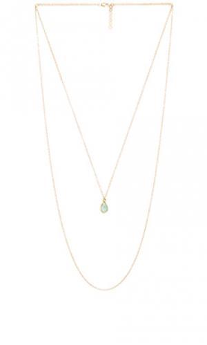 Ожерелье jules Mimi & Lu. Цвет: металлический золотой