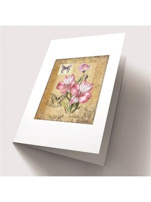Набор для создания открытки Лиловая соната Матренин Посад. Цвет: зеленый, бежевый, розовый
