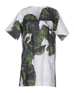 Короткое платье ELLE SASSON. Цвет: белый