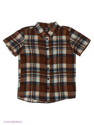 Рубашка Finn Flare. Цвет: темно-коричневый
