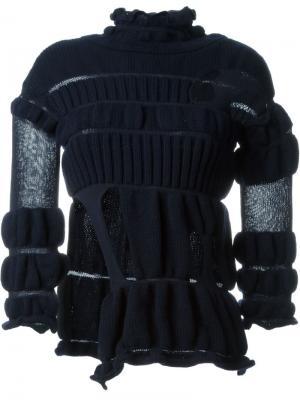 Эластичный свитер с вырезными деталями Helen Lawrence. Цвет: синий