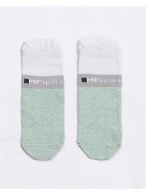 Носки Mark Formelle. Цвет: светло-зеленый, белый