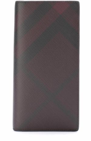 Бумажник в клетку London Check с отделениями для кредитных карт и монет Burberry. Цвет: бордовый