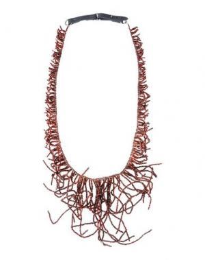 Ожерелье BRUNELLO CUCINELLI. Цвет: красно-коричневый