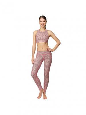 Леггинсы Base  Orient Urban Yoga. Цвет: черный,розовый