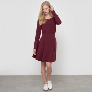 Вечернее платье с застежкой на пуговицы сзади La Redoute Collections. Цвет: красный темный,темно-фиолетовый,черный