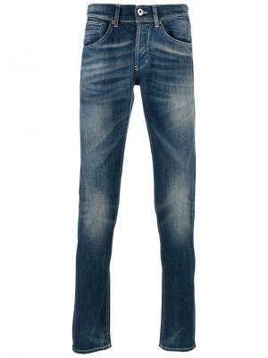 Узкие джинсы Dondup. Цвет: синий