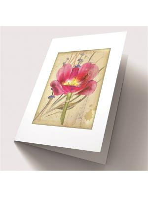 Набор для создания открытки Алая фантазия Матренин Посад. Цвет: коричневый, зеленый, розовый