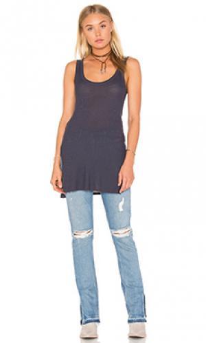 Майка silk rib jersey Enza Costa. Цвет: синий