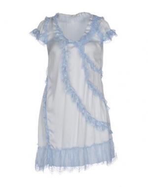 Короткое платье NOLITA. Цвет: небесно-голубой