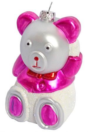 Ёлочное украшение Мишка НОВОГОДНЯЯ СКАЗКА. Цвет: розовый