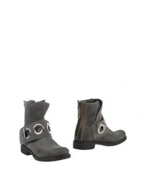 Полусапоги и высокие ботинки MANILA GRACE DENIM. Цвет: свинцово-серый