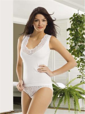 Майка женская Oztas underwear. Цвет: белый