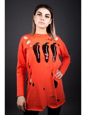 Туника Fronzoli. Цвет: оранжевый