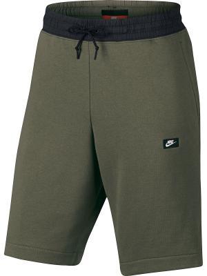 Шорты M NSW MODERN SHORT FT Nike. Цвет: оливковый