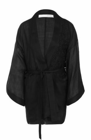 Жакет-кимоно с поясом Isabel Benenato. Цвет: черный