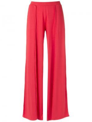 Широкие брюки Lygia & Nanny. Цвет: красный