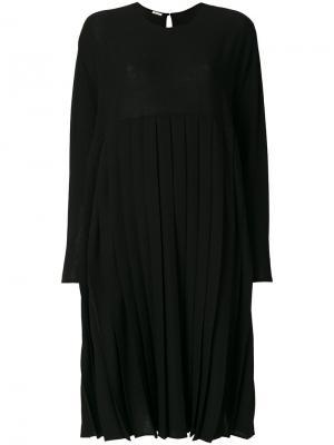 Плиссированное платье Apuntob. Цвет: чёрный