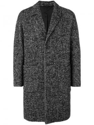 Однобортное пальто мешковатого кроя Hevo. Цвет: чёрный