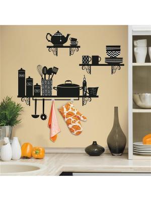 Наклейки для декора - Кухонные полочки ROOMMATES. Цвет: черный