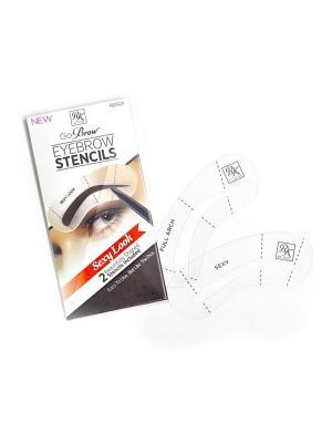 Kiss Набор трафаретов для бровей Sexy Look Eyebrow Stencils Go Brow RBS01. Цвет: прозрачный