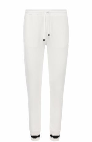 Хлопковые джоггеры с карманами Dolce & Gabbana. Цвет: белый