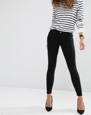 ASOS Черные джинсы скинни с заниженной талией Whitby. Цвет: черный