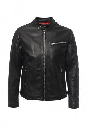 Куртка кожаная Oakwood. Цвет: черный