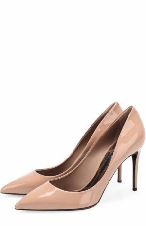 Лаковые туфли Kate на шпильке Dolce & Gabbana. Цвет: бежевый
