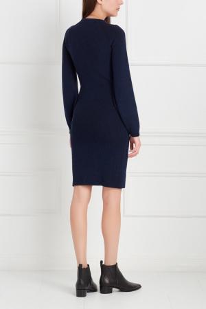 Шерстяное платье Antonino Valenti. Цвет: синий